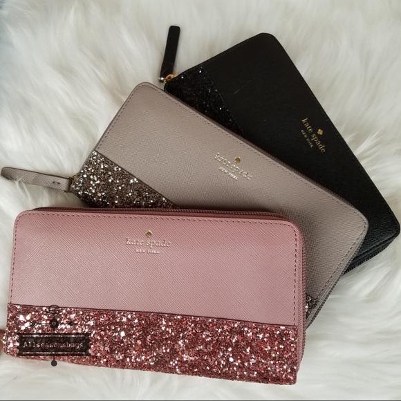e41e2e338 kate spade Bags | Neda Greta Court Glitter Wallet Nwt | Poshmark
